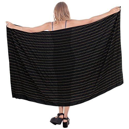 0f2f5c6f6bb4d delicate LA LEELA Rayon Lange Badebekleidung Kleid Fester Strand tragen  Sarong eine Größe: Länge: