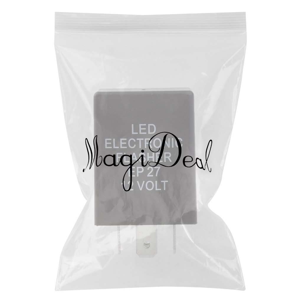 MagiDeal 5-Pin EP27 LED Turn Signal Blinker Flasher Relay Switch Universal