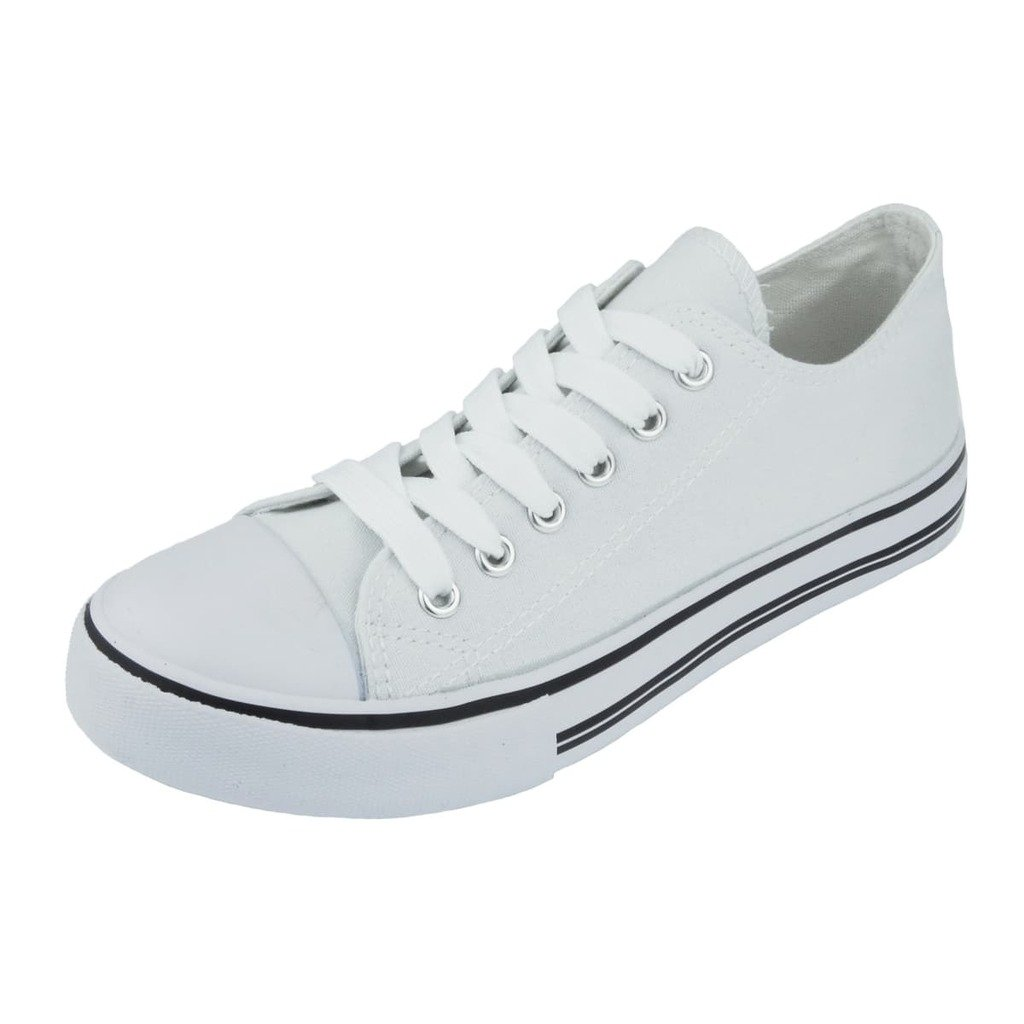Pierre Dumas Women's Logan-1 Fashion Canvas Lace-Up Sneakers B01J2DBHL6 6 B(M) US|White