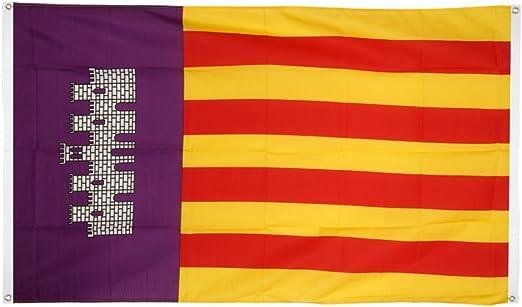 Digni de balcón (con 4 ojales) bandera de España Mallorca – 90 x ...