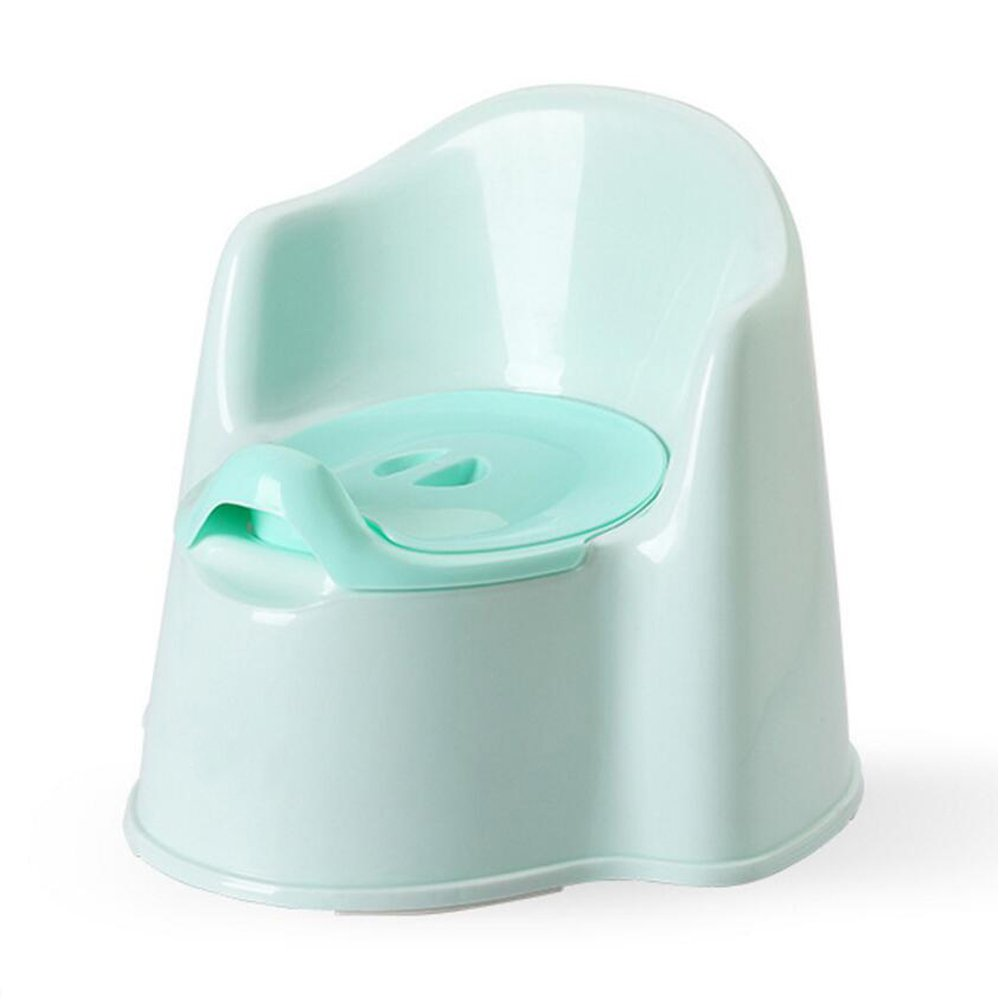 JUNBOSI Baby Potty High Back Potty Chair Baby Toddler Potty Homeself Potty Training Seat For Boys And Girls Easy Clean/Non-Slip Feet Steady Potty (Color : Green)