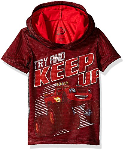 Nickelodeon Boys' Toddler Blaze and The Monster Machines Hooded T-Shirt, red, 4T