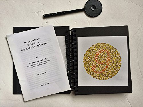Color Test - Ishihara Test Chart Books for Color Deficiency 38 Plates latest Edition with Manual and Eye OCCLUDER