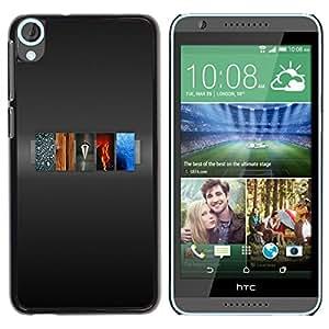 LECELL -- Funda protectora / Cubierta / Piel For HTC Desire 820 -- 5 Elements Of Life --