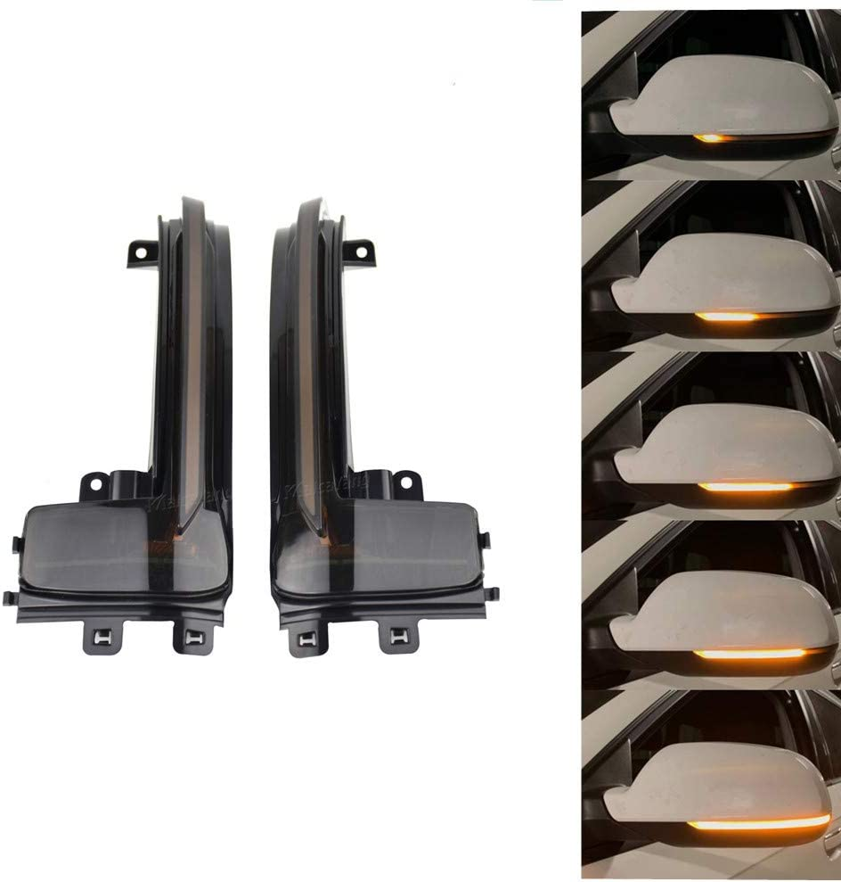 Retrovisor luces indicadoras de giro de intermitentes LED dinámicas para A3 8P A4 A5 B8 Q3 A6 C6: Amazon.es: Coche y moto