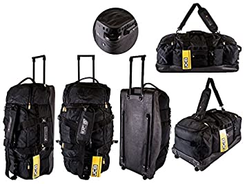 1412258b1089 NEW ORIGINAL JCB EXTRA LARGE WHEELED TROLLY BAG HOLDALL WHEELED TRAVEL BAG  LUGGAGE BAG DUFFLE BAG