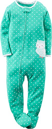 Carter's Baby-Girls' 1 Pc Polka Dot Cotton Footed Sleeper Size 2T