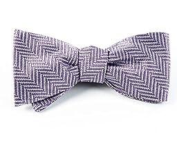 100% Woven Silk Lavender Native Herringbone Patterned Self-Tie Bow Tie