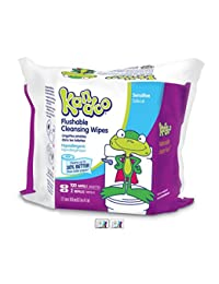 Kandoo Flushable Biodegradable Training and Kids Cleansing Wet Wipes with Moisturizing Lotion Refills, Sensitive, 100 Count (Pack of 6) BOBEBE Online Baby Store From New York to Miami and Los Angeles