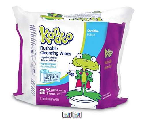 Kandoo Kids Flushable Wipes Refill Potty Training Cleansing Cloth Deal (Large Image)