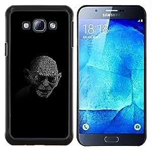 KLONGSHOP // Cubierta de piel con cierre a presión Shell trasero duro de goma Protección Caso - My Precious Gollum - Samsung Galaxy A8 A8000 //