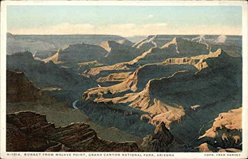 - Sunset from Mojave Point Grand Canyon National Park Original Vintage Postcard