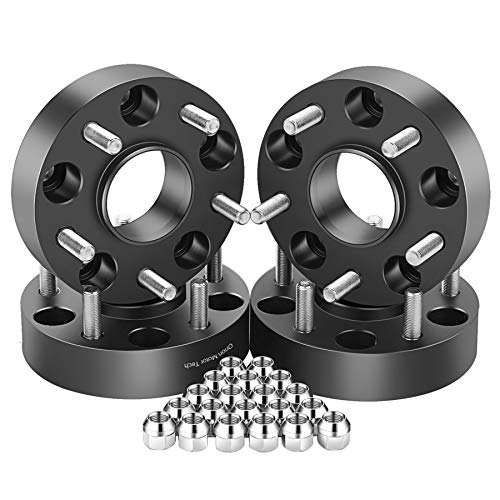 OrionMotorTech 5x5 Wheel Spacers 1.5 inches with 1/2-20 Studs for 007-2018 Jeep Wrangler JK, 1999-2010 Grand Cherokee WJ WK, 2006-2010 Commander XK, 4pcs (3-5 Inch Lift Kit Jeep Wrangler Unlimited)