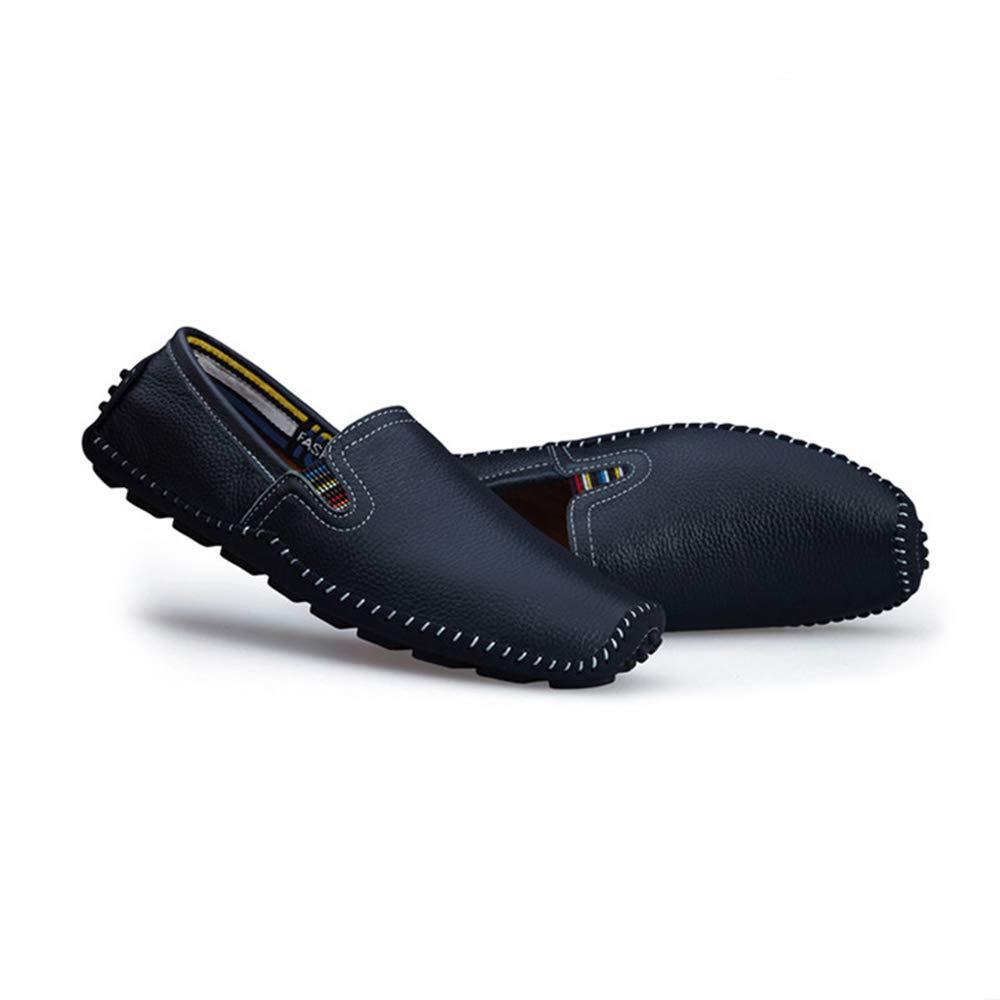Stiefelschuhe Mokassin Gommino Herren Echtleder Niedrig Cut Schuhe (Größe: Komfort Wohnungen Business Schuhe (Größe: Schuhe 24,0 cm 28,5 cm) Schwarz/Blau / Braun Mokassin Gommino (Farbe : Blau, Größe : 41 1/3 EU) Blau 74ddbf