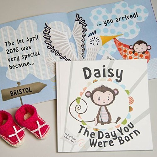 The day you were born personalised new baby book amazon the day you were born personalised new baby book negle Image collections