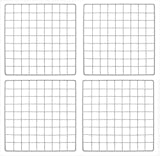Set of 4 New Retail White finish Mini Gridwall Panel 14'' x 14''