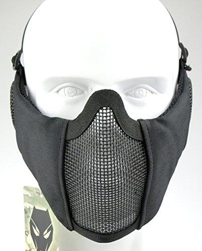 ATAIRSOFT Tactical Airsoft CS Demi-Masque de Protection en Nylon avec Masque Anti-Bruit 2