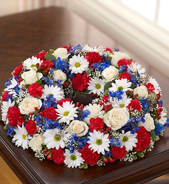 Amazon cremation wreath red white and blue large 1 800 cremation wreath red white and blue large 1 800 flowers mightylinksfo