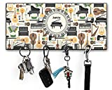RNK Shops Musical Instruments Key Hanger w/ 4 Hooks (Personalized)
