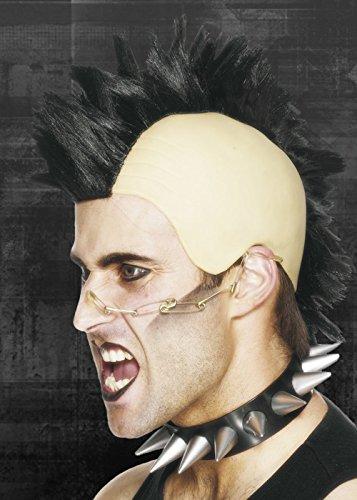 Mohawk Wigs (Mens Gothic Black Mohawk Wig)