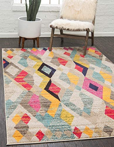 Unique Loom Sedona Collection Abstract Geometric Multi Area Rug 9' 0 x 12' 0