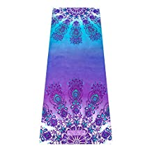UNION YOGA MAT COMBO | 2 in 1 Towel/Mat | Designed to Inspire Your Yoga | Non Slip Fabric Enhances Grip with Sweat | Eco Friendly | Machine Washable. Strap Included | Ideal for Hot Yoga, Pilates, Bikram etc. Tree Planted per Mat Sold!