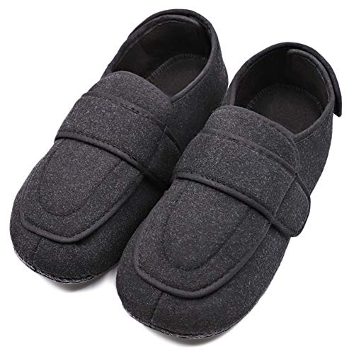 (Mens Extra Extra Wide Slipper Orthopaedic Adjustable Diabetic Edema Boot/Slippers for Swollen Feet)