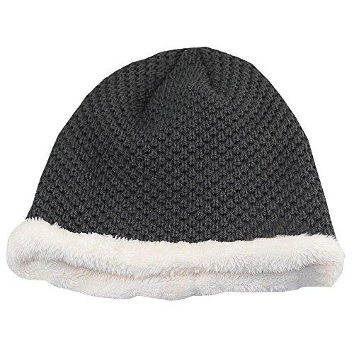 KINDOYO aire otoño Gris el el del y al Sombrero libre al para del knit libre aire grueso hombre caliente del esquí invierno 40TwAx4qr