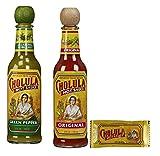 cholula hot sauce gift - Cholula Original 5 oz, Green 5oz & 25 Original Sauce Packets