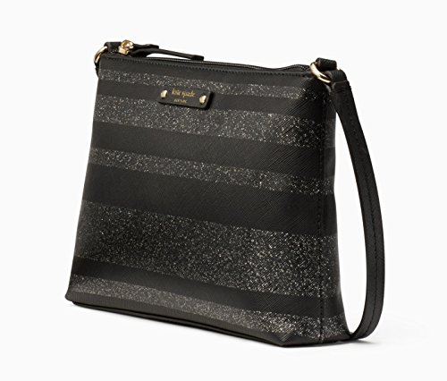 York Glitter Ramey Black Lane WKRU4780 Spade Kate New Stripe Crossbody Haven Handbag fFS6E