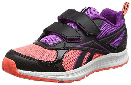 Reebok Almotio Rs 2v, Zapatillas de Trail Running para Niñas Negro (Negro (Black /     Vitamin C /     Aubergine)