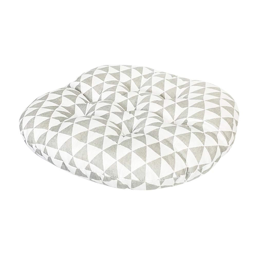 1KTon Chair Cushion Round Cotton Upholstery Soft Padded Cushion Pad Office Home Or Car Seat Cushion by 1KTon
