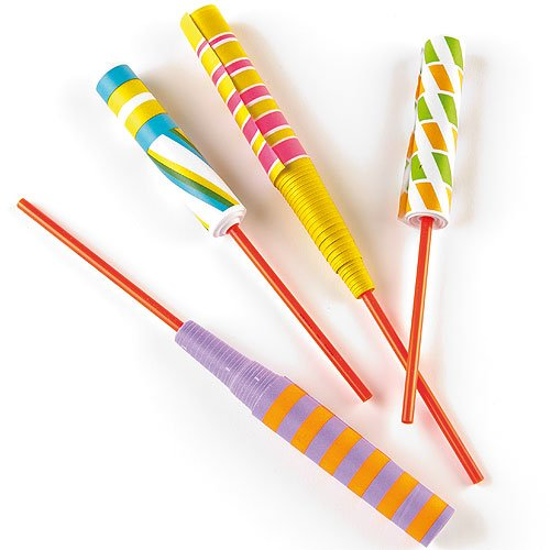 Baker Ross Paper Sword Flickers Party Bag Fillers for Boys & Girls, Children's Prizes (Pack of 6)