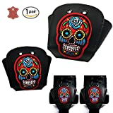 Kuccmu Leather Roller Skate Toe Guards with Skull - Best Reviews Guide