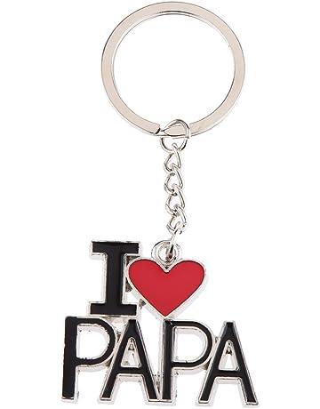 Gazechimp Créatif I Love Papa Porte-clés Pendentif Lettrage Clé Chaîne  Cadeau Fête de Pères ca6d68f0426