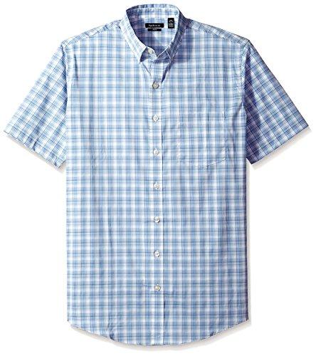 Van Heusen Men's Big and Tall Flex Stretch Short Sleeve Non Iron Shirt, Aquatic, 4X-Large Big