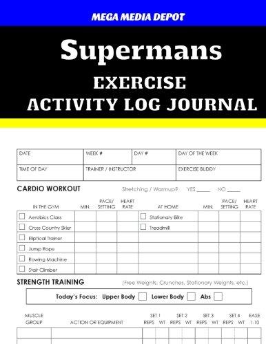 Read Online Supermans Exercise Activity Log Journal pdf