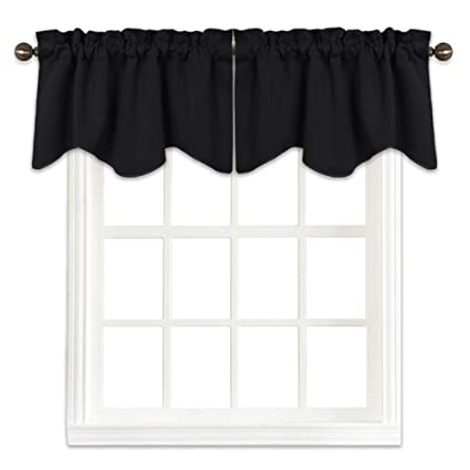 Superbe NICETOWN Window Dressing Blackout Valance For Bedroom   W52 X L18 Scalloped  Valance Blackout Curtain Tier