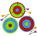 Gamie Dart Board Set for Kids Includes 3 Dartboards and 6 Darts Kid-Safe Dartboard Kit for Boys and Girls Great Gift/Party Activity/Bedroom Wall Decor Idea (Red  Blue and Green)の商品画像