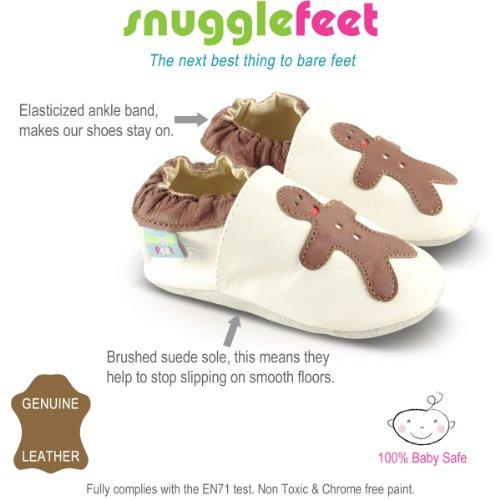 Snuggle Feet - Suaves Zapatos De Cuero Del Bebé ratón (6-12 meses)