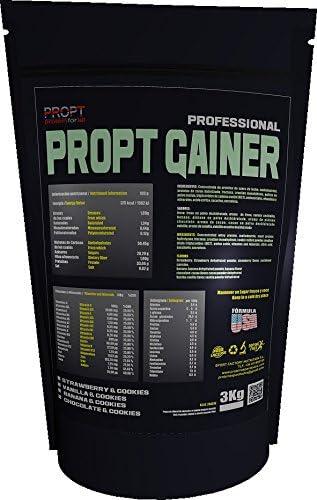 PROPT GAINER 33% proteinas 3KG sabor vainilla: Amazon.es ...