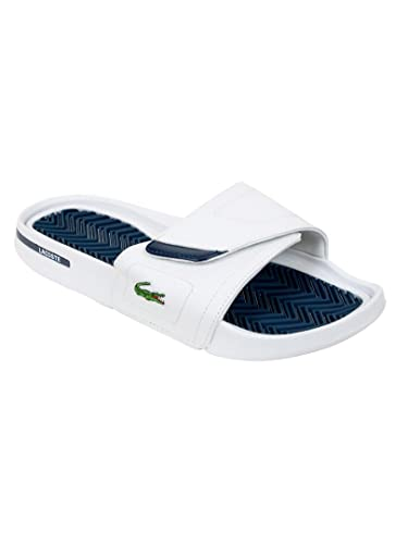 e0c1038078b3 Lacoste - White Dark Blue Molitor Flip Flops - Mens - Size  UK 11 ...