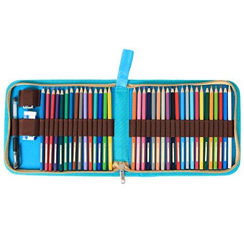 damero 36 colored pencil case pen holder travel. Black Bedroom Furniture Sets. Home Design Ideas