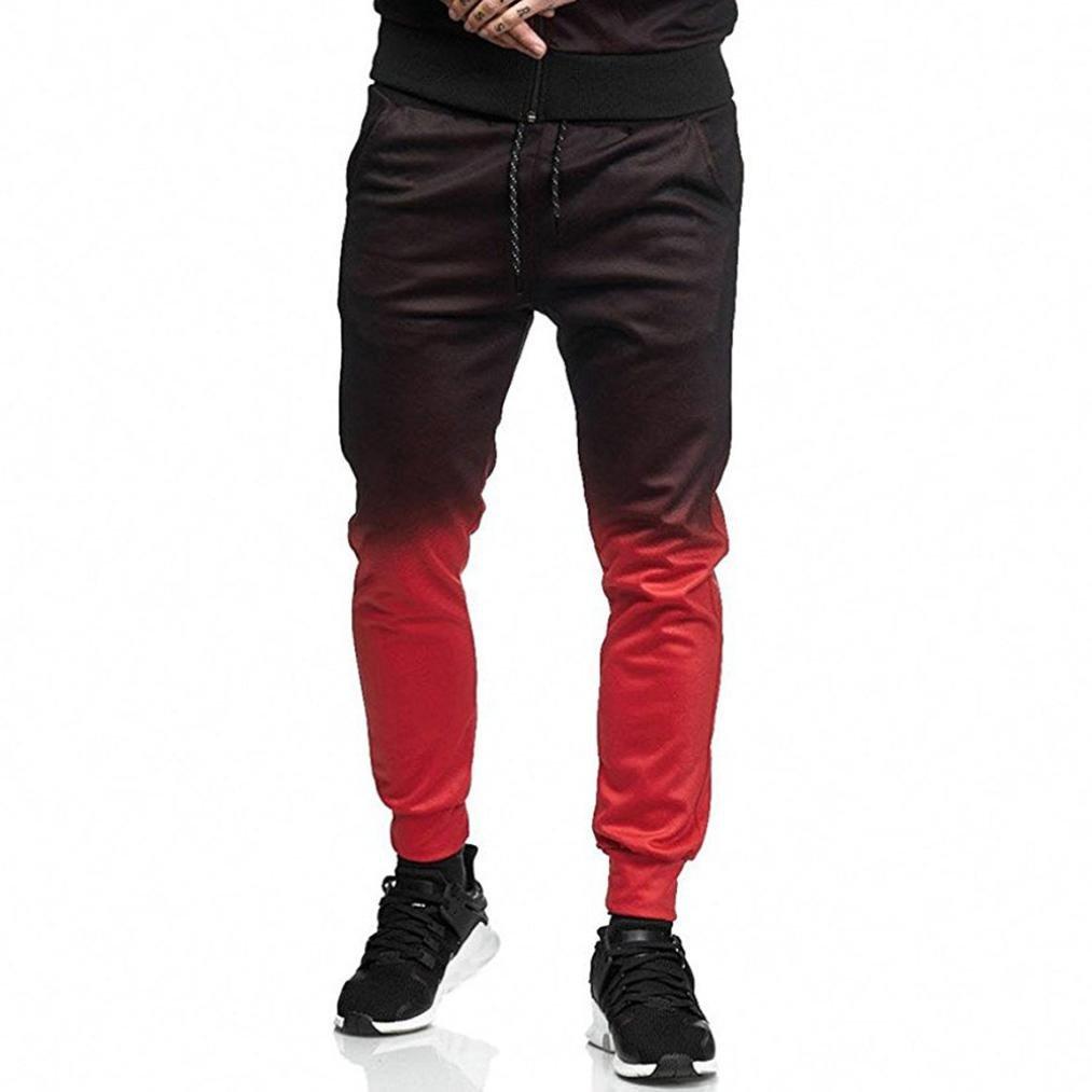 Men Drawstring Pants, Vanvler Male Loose Sweatpants - Jogging Fitness Gradient [ Gym Trousers ] Vanvler Men Pants