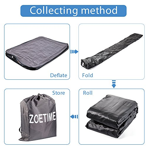 Zoetime Upgraded Queen Air Mattress Double Blow Up Elevated Raised Airbed Inflatable Beds with