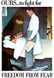 Norman Rockwell Freedom From Fear WWII War Propaganda Art Print Poster 13 x 19in