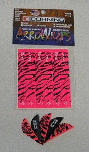 Blazer Arrow Vanes w/4''x1'' Blazer Pink Tiger Wraps Combo