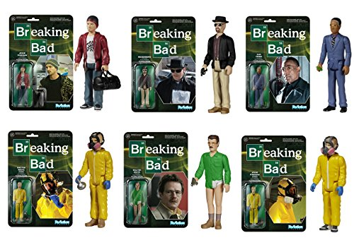 Breaking Bad - Funko Reaction Series - Set of ALL 6 Figures by ADVENTURER'S BAG