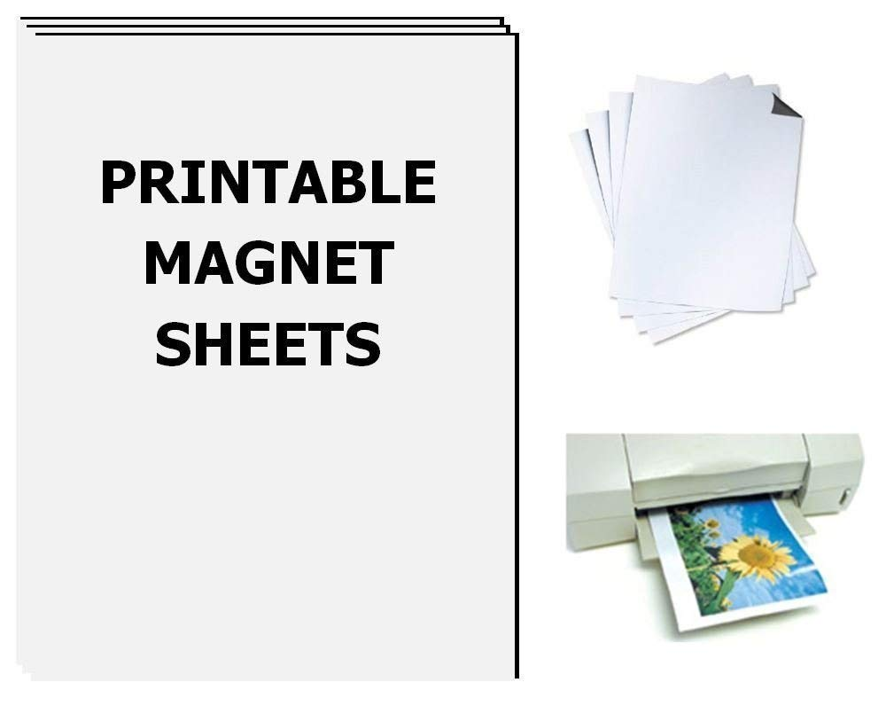 photograph regarding Printable Magnetic Sheets called Printable Magnet Sheets, 8.5 X 11 Inches, White, 25 sheets