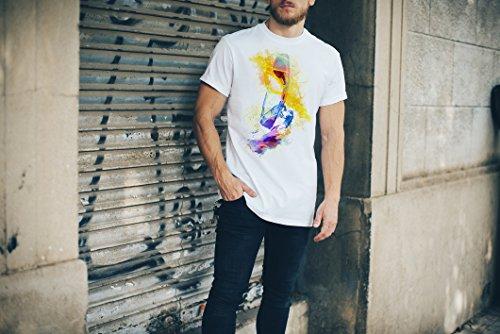 Windsurfer Herren T-Shirt Sport Motiv aus Paul Sinus Aquarell